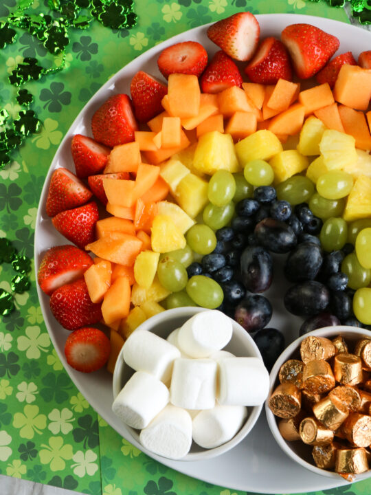 St Patrick's Day Fruit Rainbow