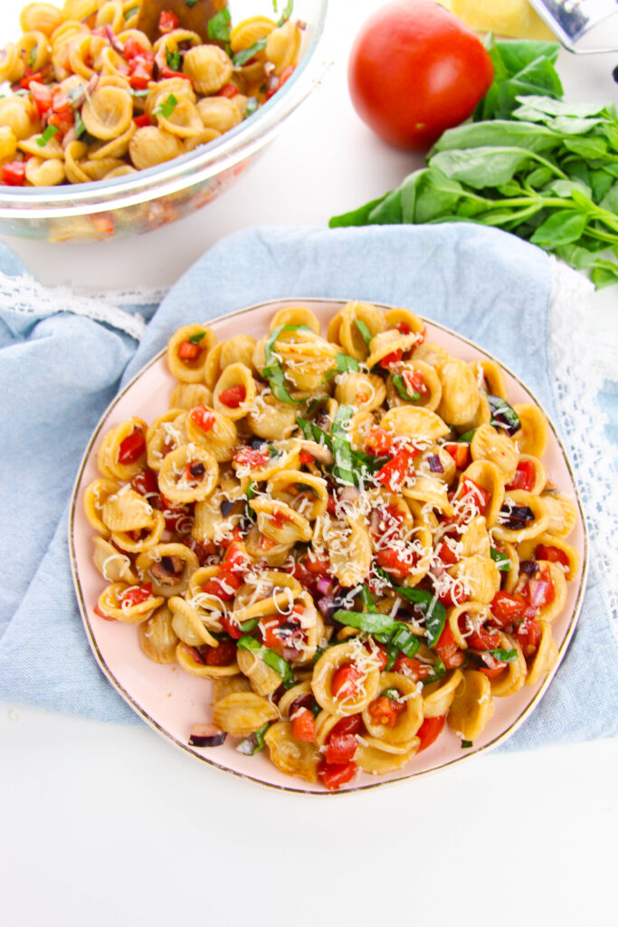 The Best Bruschetta Pasta Salad Recipe