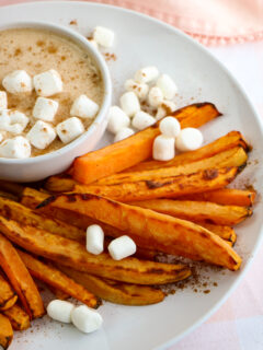 These air fryer sweet potato fries are crisp and flavorful. They're a quick, healthy and easy side dish made with simple ingredients.