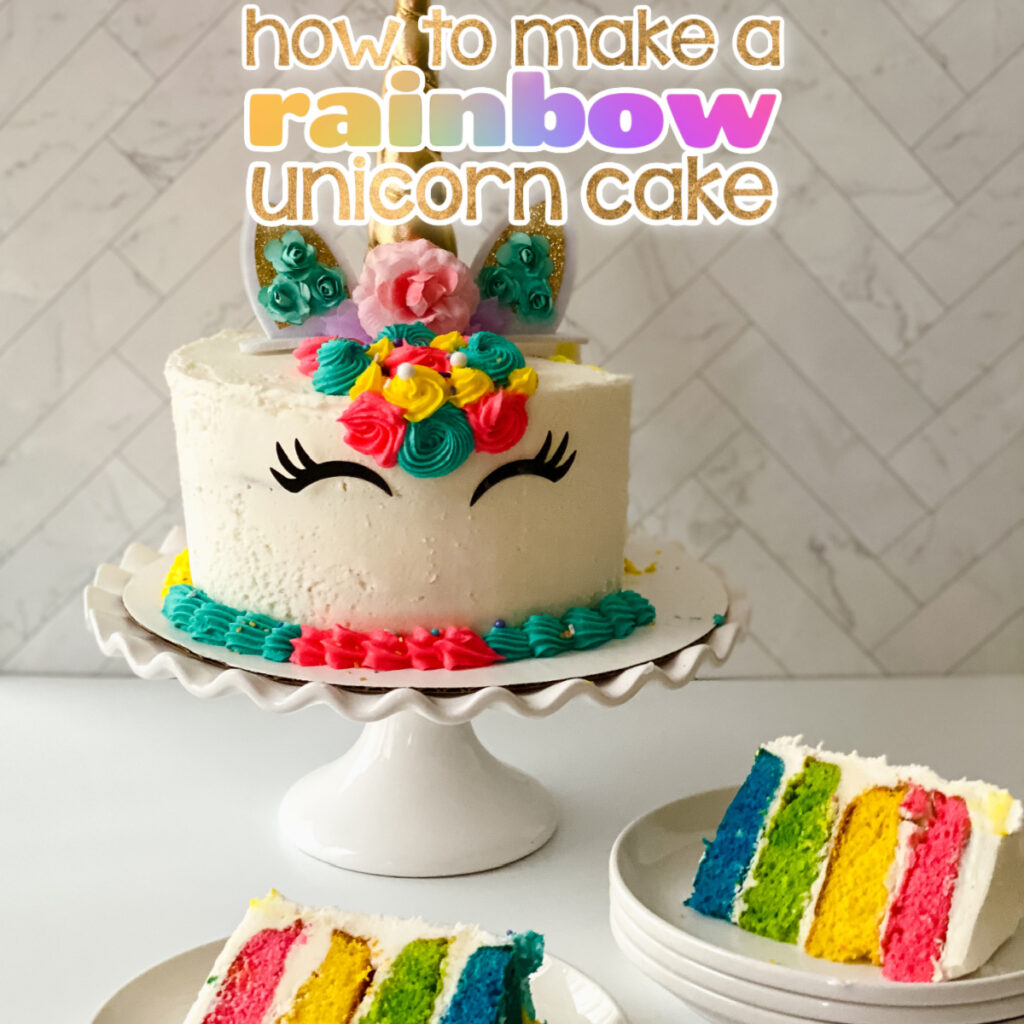 rainbow unicorn cake Facebook Post