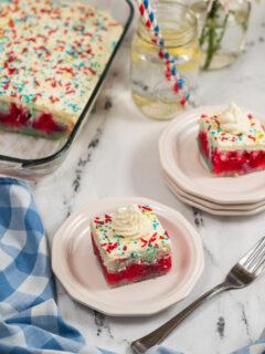 red white blue poke cake