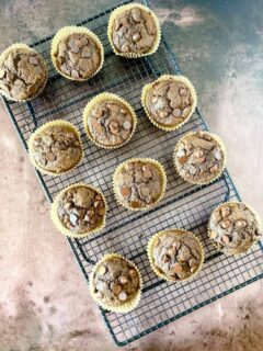 cacao banana muffins