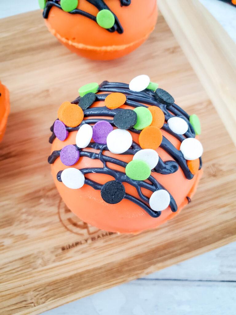 Halloween hot chocolate bombs