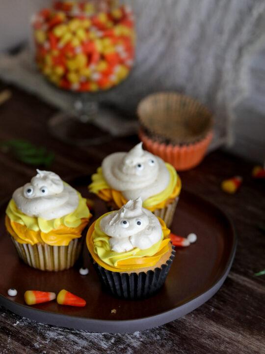 Easy Halloween Ghost Cupcakes Recipe