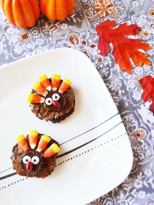 Easy Thanksgiving Turkey Brownies Recipe