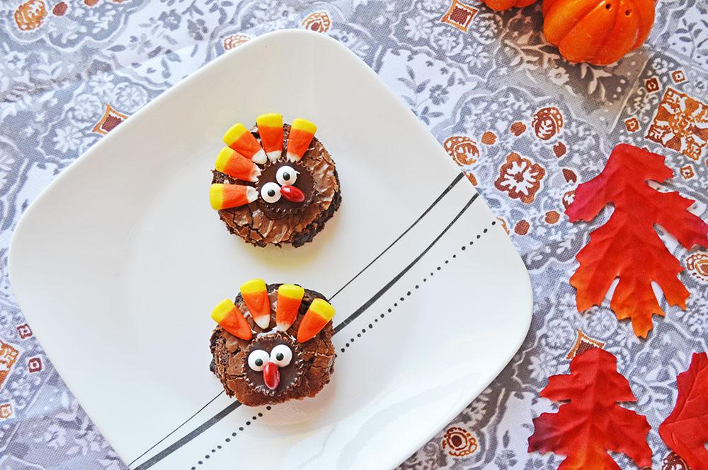 thanksgiving turkey brownies