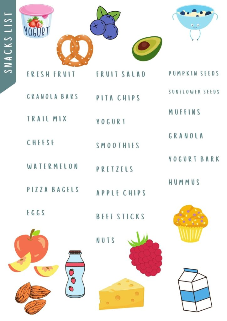 healthy snack graphic
