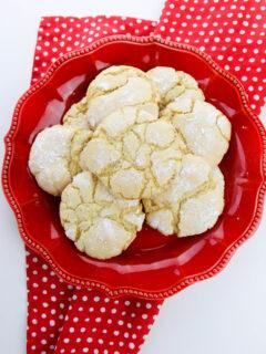 vanilla crinkle cookies with cake mix